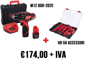 Immagine di M12 BDD-202C + HD BOX 50 ACCESSORI